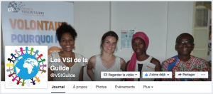 La page Facebook des VSI, Volontaires de Solidarité Internationale