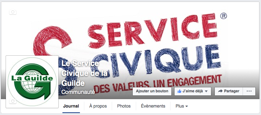 La page Facebook du Service Civique